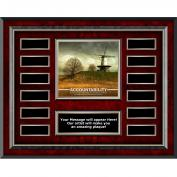 Accountability Windmill Rosewood Horizontal Perpetual Plaque