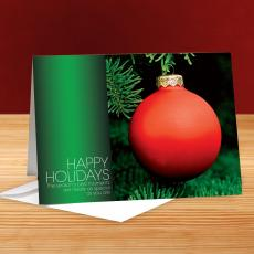 Happy Holidays Ornament in Evergreen Tree25-Pack Greeting Cards