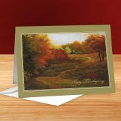 Happy Thanksgiving Harvest 25-Pack Greeting Cards