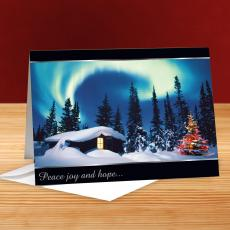 Peace Aurora Lights 25-Pack Greeting Cards