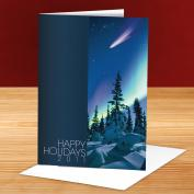 Happy Holidays Shooting Star 25-Pack Greeting Cards