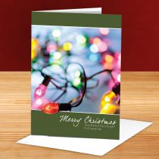 Merry Christmas String of Lights 25-Pack Greeting Cards