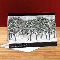Holiday Cheer Trees 25-Pack Greeting Cards