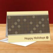 Happy Holidays Snowflakes 25-Pack Greeting Cards