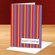 Seasons Greetings Stripes 25-Pack Greeting Cards
