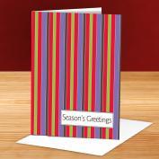 Seasons Greetings Stripes 25-Pack Greeting Cards