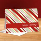 Happy Holidays Candy Cane 25-Pack Greeting Cards
