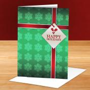 Happy Holidays Ribbon 25-Pack Greeting Cards