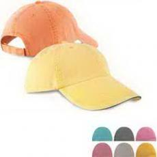 Office Supplies - Six Panel Pigment Dyed Twill Sandwich Cap
