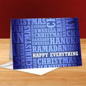 Happy Everything Blue 25-Pack Greeting Cards