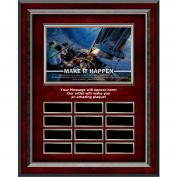Make It Happen Sailboat Rosewood Vertical Perpetual Plaque Program (703266), Awards & Recognition