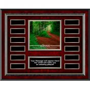 Service Path Rosewood Horizontal Perpetual Plaque