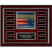 Leadership Flamingo Rosewood Horizontal Perpetual Plaque
