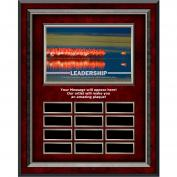 Leadership Flamingo Rosewood Vertical Perpetual Plaque