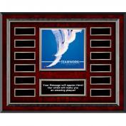 Teamwork Jets Rosewood Horizontal Perpetual Plaque
