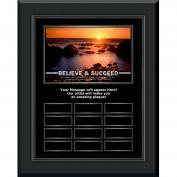 Believe & Succeed Gunmetal Vertical Perpetual Plaque