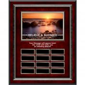 Believe & Succeed Rosewood Vertical Perpetual Plaque