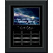 Customer Service Lighthouse Gunmetal Vertical Perpetual Plaque