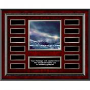 Customer Service Lighthouse Rosewood Horizontal Perpetual Plaque