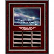 Customer Service Lighthouse Rosewood Vertical Perpetual Plaque