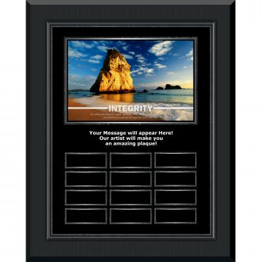 Integrity Rock Gunmetal Vertical Perpetual Plaque