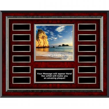 Integrity Rock Rosewood Horizontal Perpetual Plaque