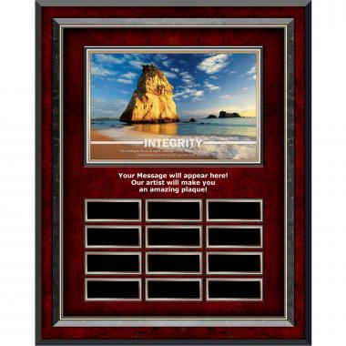 Integrity Rock Rosewood Vertical Perpetual Plaque