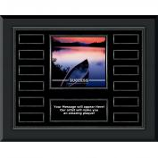 Success Canoe Gunmetal Horizontal Perpetual Plaque