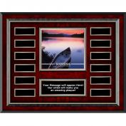 Success Canoe Rosewood Horizontal Perpetual Plaque
