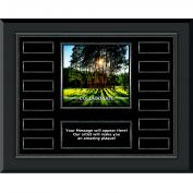 Collaborate Tree Gunmetal Horizontal Perpetual Plaque