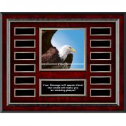 Vision Eagle Rosewood Horizontal Perpetual Plaque