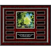 Leadership Leaf Rosewood Horizontal Perpetual Plaque