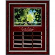 Leadership Leaf Rosewood Vertical Perpetual Plaque