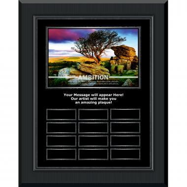 Ambition Gunmetal Vertical Perpetual Plaque