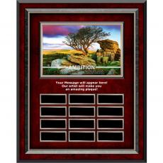 Image Plaques - Ambition Rosewood Vertical Perpetual Plaque