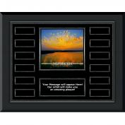 Inspiration Sunburst Gunmetal Horizontal Perpetual Plaque