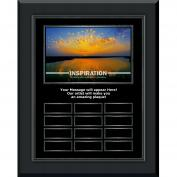 Inspiration Sunburst Gunmetal Vertical Perpetual Plaque