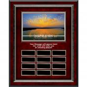 Inspiration Sunburst Rosewood Vertical Perpetual Plaque