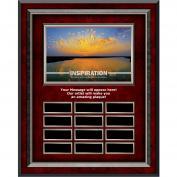 Inspiration Sunburst Rosewood Vertical Perpetual Plaque
