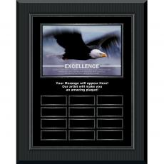 Excellence Eagle Gunmetal Vertical Perpetual Plaque