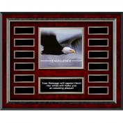 Excellence Eagle Rosewood Horizontal Perpetual Plaque