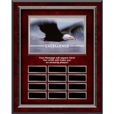 Perpetual Programs - Excellence Eagle Rosewood Vertical Perpetual Plaque