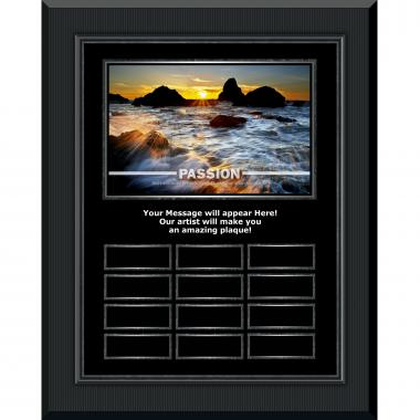 Passion Sea Spray Gunmetal Vertical Perpetual Plaque