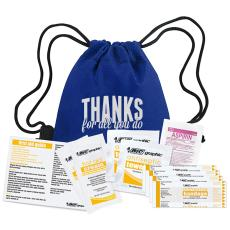 Fun Motivation & Gifts - Thanks for All You Do First Aid Cinch Bag