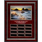 Passion Sea Spray Rosewood Vertical Perpetual Plaque