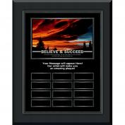 Believe & Succeed Sunset Gunmetal Vertical Perpetual Plaque