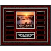 Believe & Succeed Rosewood Horizontal Perpetual Plaque