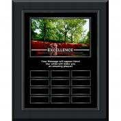 Excellence Azalea Gunmetal Vertical Perpetual Plaque