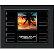 Dream Beach Gunmetal Horizontal Perpetual Plaque