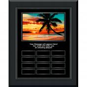 Dream Beach Gunmetal Vertical Perpetual Plaque
